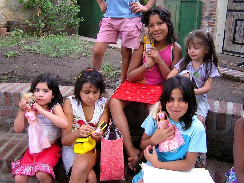 Børn fra et humanitært projekt