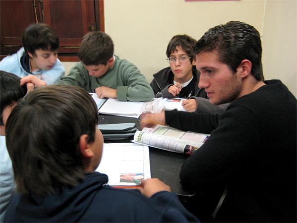 Undervisning af skolebørn i Argentina