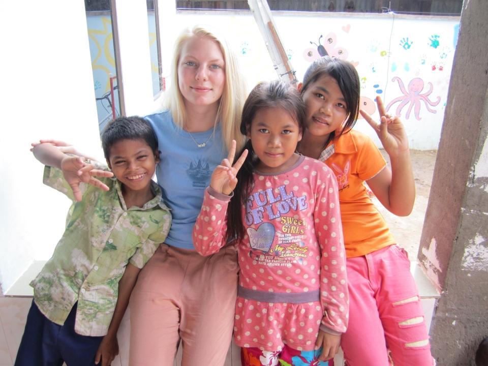 Volontør på humanitært arbejde i Cambodja