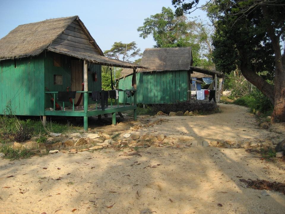 Frivilliges boliger på Natur & Miljø projektet i Cambodja