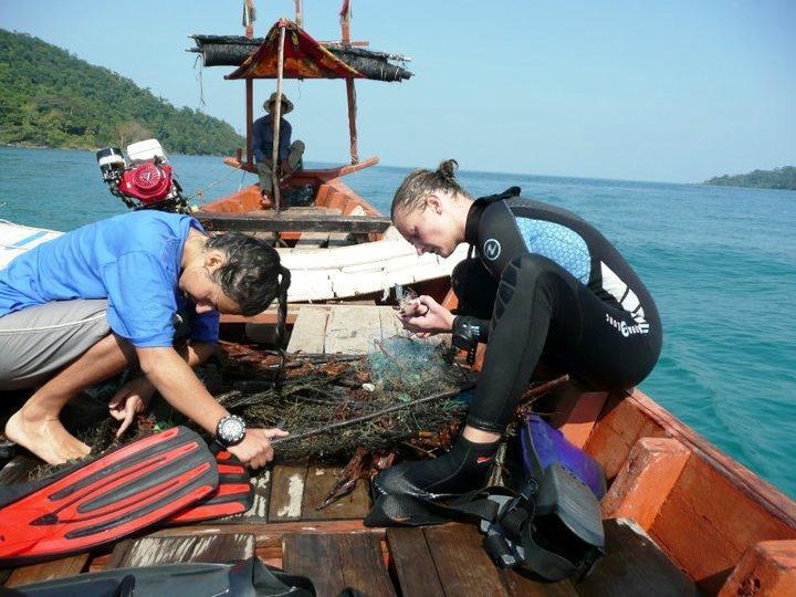 Volontør på marineprojekt i Cambodja
