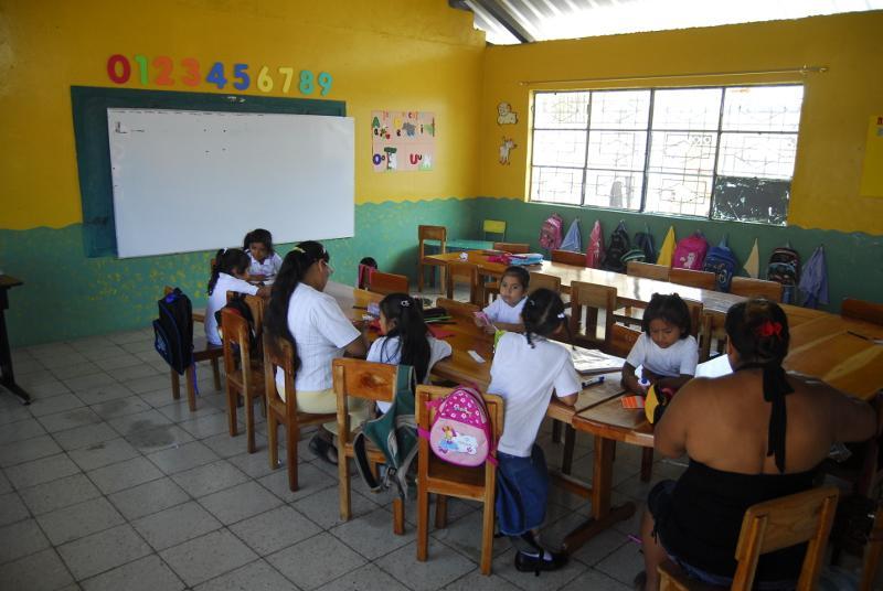 Børn undervises i på San Cristobal