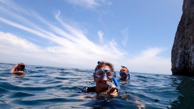 Snorkling på Galapagos-øerne