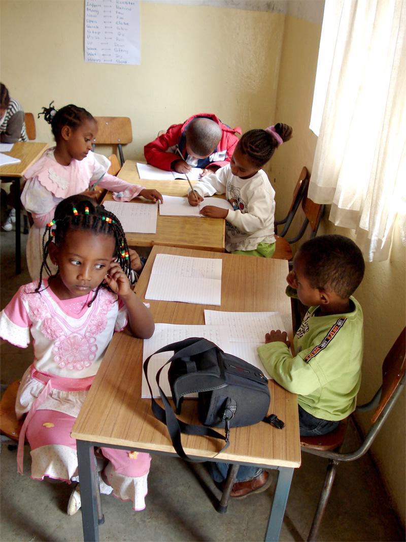 Etiopiske skolebørn