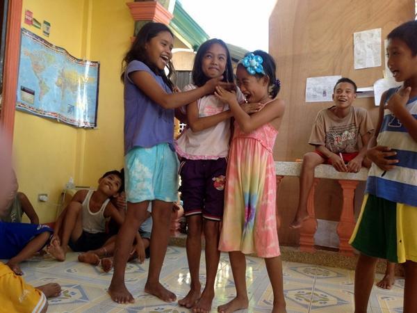 Skønne filippinske børn