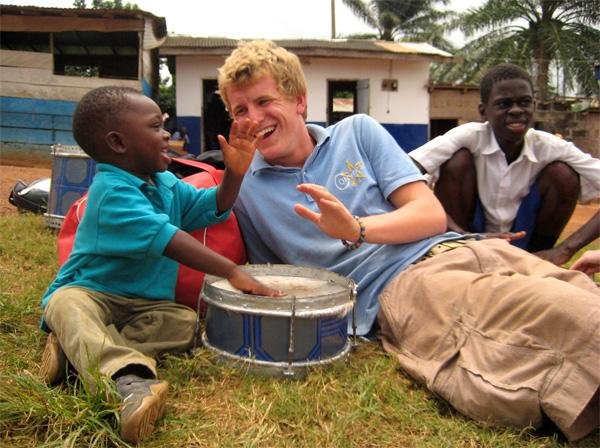 Volontør på humanitært arbejde i Ghana