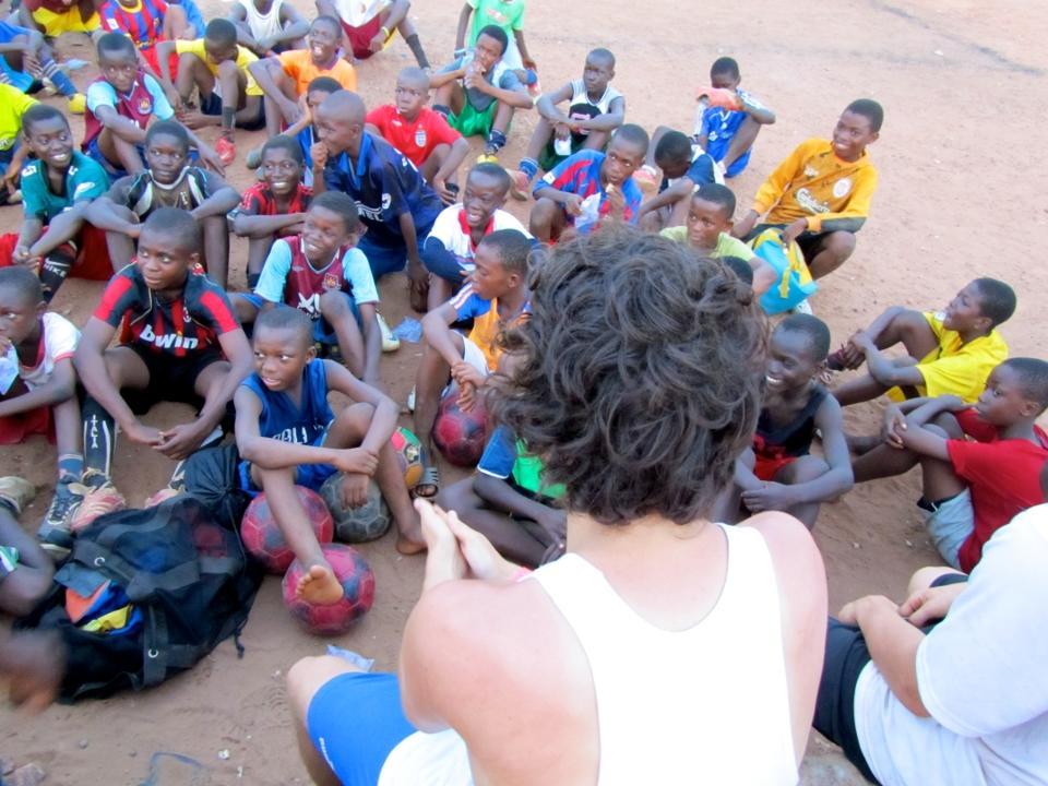 Fodboldprojekt i Ghana