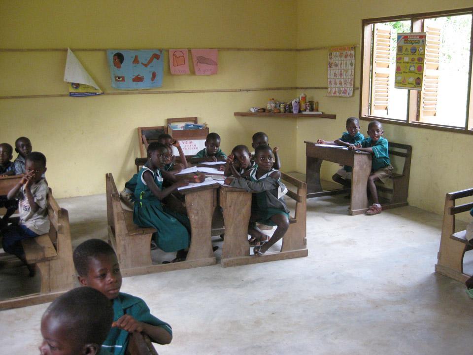 Klasselokale på ghanesisk skole