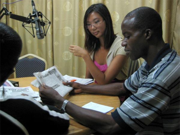 Journalistisk praktik på radiostation i Ghana