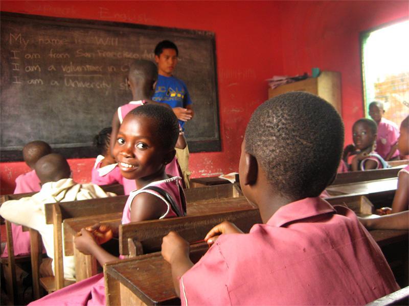 Undervisning i Cape Coast, Ghana
