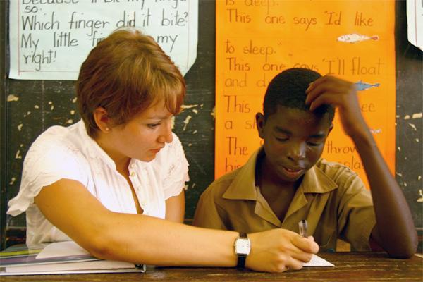 Frivillig underviser på Jamaica