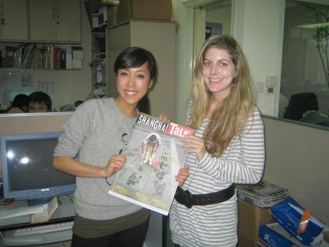 Volontør på et magasin i Shanghai