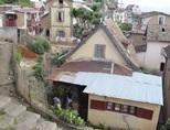 Huse i Moramanga i det østlige Madagaskar