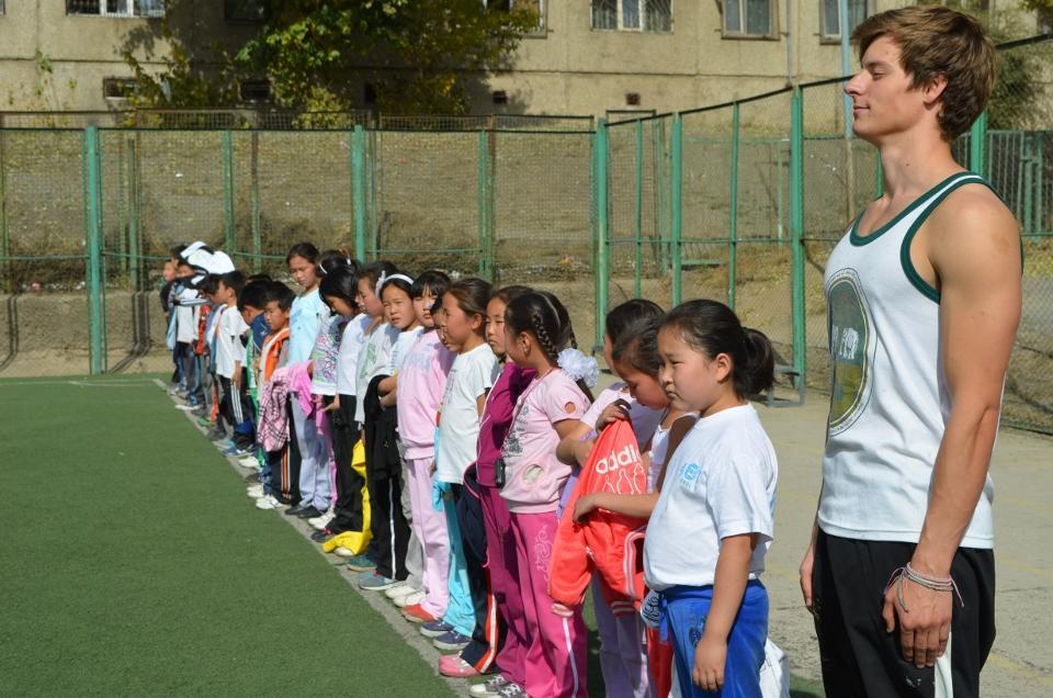 Frivillig sportstræner i Mongoliet