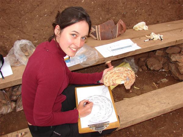 Frivillig på arbejde på Inca projekt