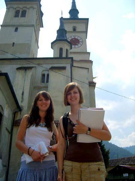 Praktikanter på fotografiprojekt i Rumænien