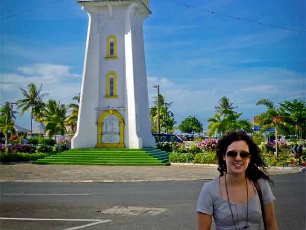 Frivillig på sightseeing i Samoa