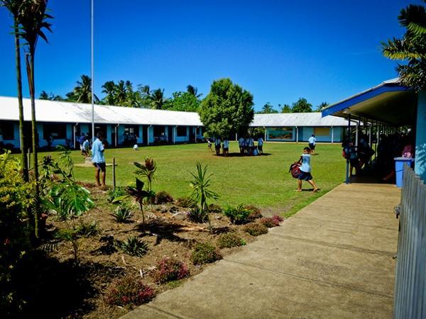 Skolegård i Samoa