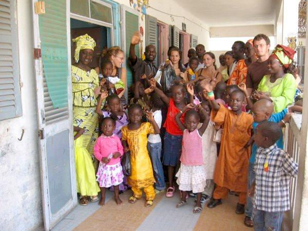 Frivillige med senegalesisk værtsfamilie