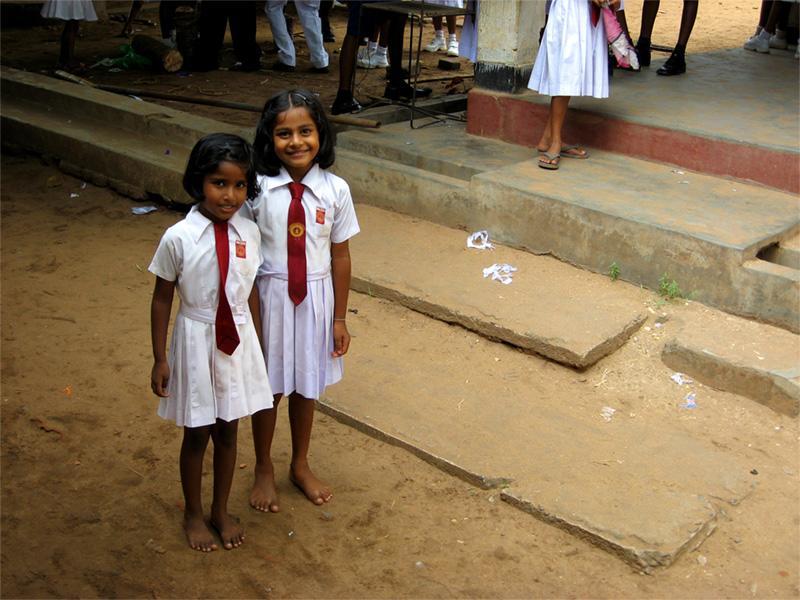 Srilankanske skolebørn