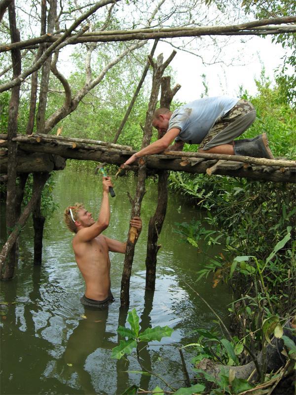 Frivillige på arbejde på Natur & Miljø projekt i Thailand