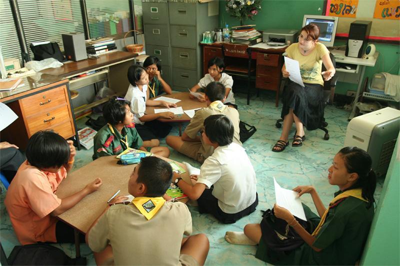 Frivillig lærer på arbejde i Thailand