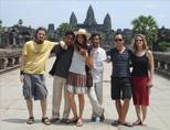 Volunteers visiting Ankor Wat