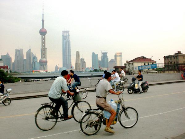 Biking in Shanghai