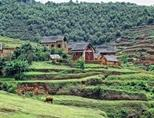 A village in the countryside of Madagascar