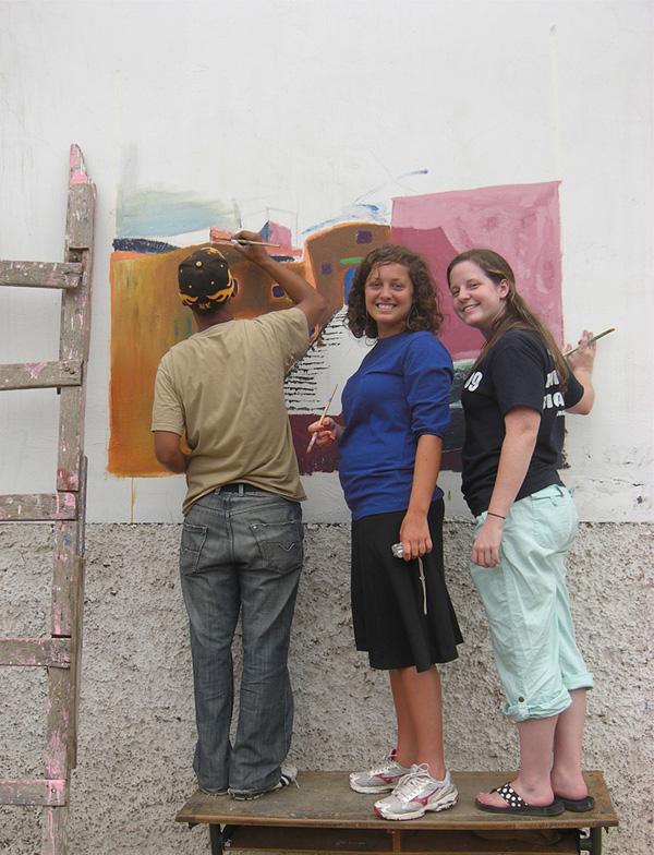 2-Week Special volunteers painting