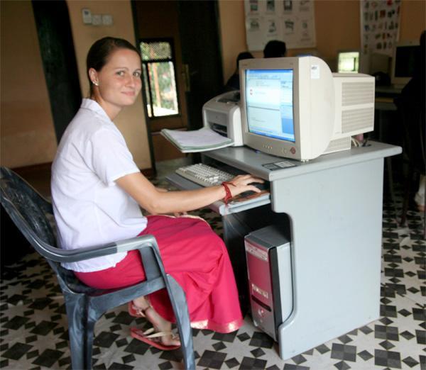 Volunteering in an IT center