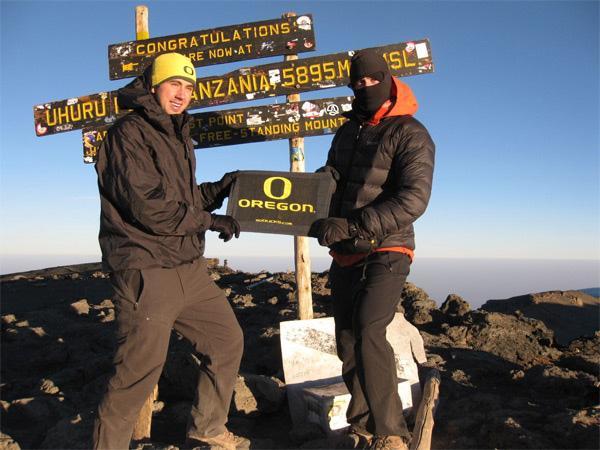 Volunteers on top of Kilimanjaro