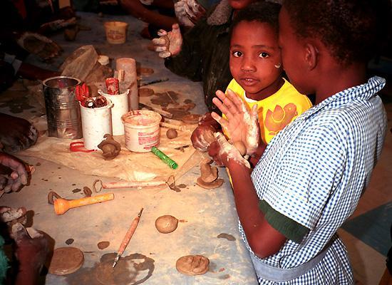 Kids sculpting