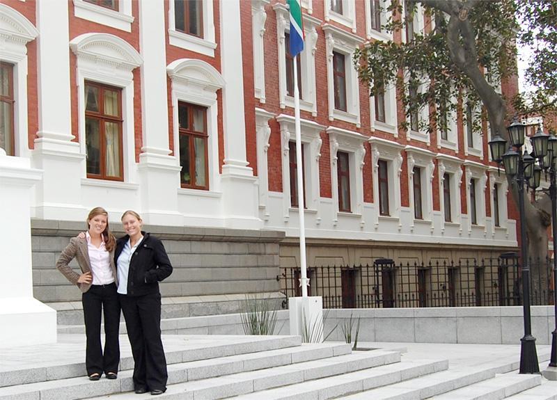 Volontaires sur un stage en Droits de la personne en Afrique du Sud