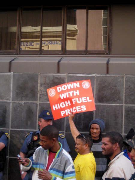 Manifestation pour la défense des Droits de la personne en Afrique du Sud