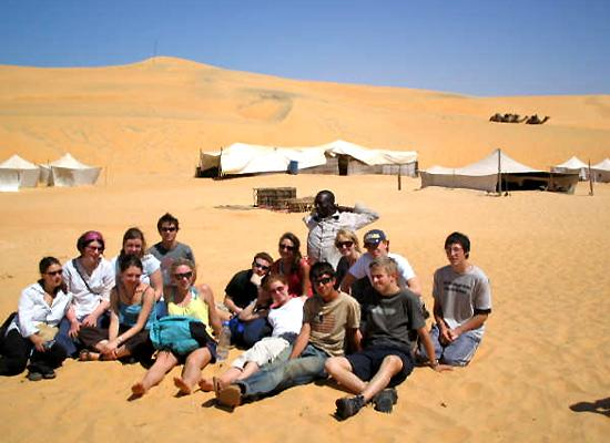 Volunteers in desert