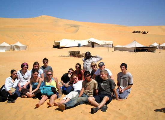 Volunteers in desert