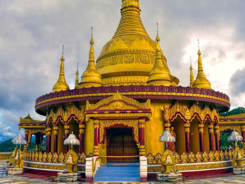 Vue sur un temple Hindou au Bangladesh