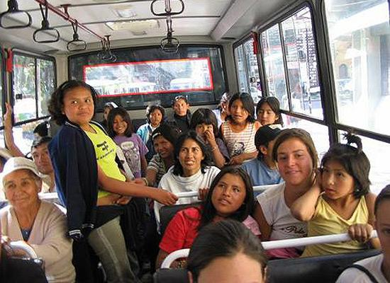 In buss