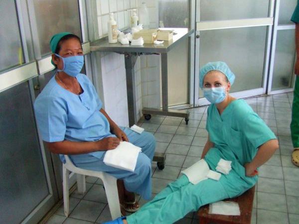 Stagiaire en médecine au Cambodge