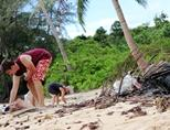 Beach clean-up on Koh Sdach Island, Cambodia
