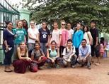 High-school volunteers from around the world