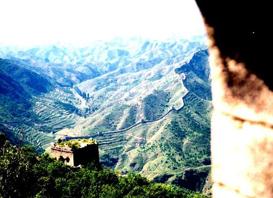 Great wall from tower