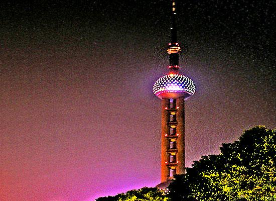 Oriental Pearl tower night