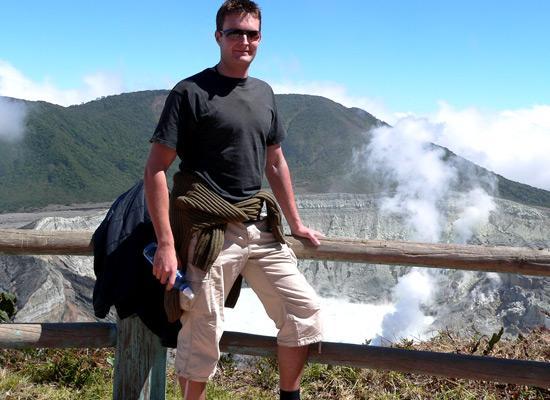 Volunteer on mountain