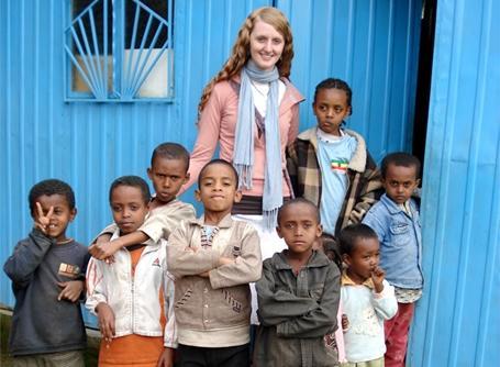 Volontaire sur une mission humanitaire en Éthiopie