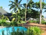 A scenic picture of the beach house where volunteers on the Shark Conservation Project in Fiji live