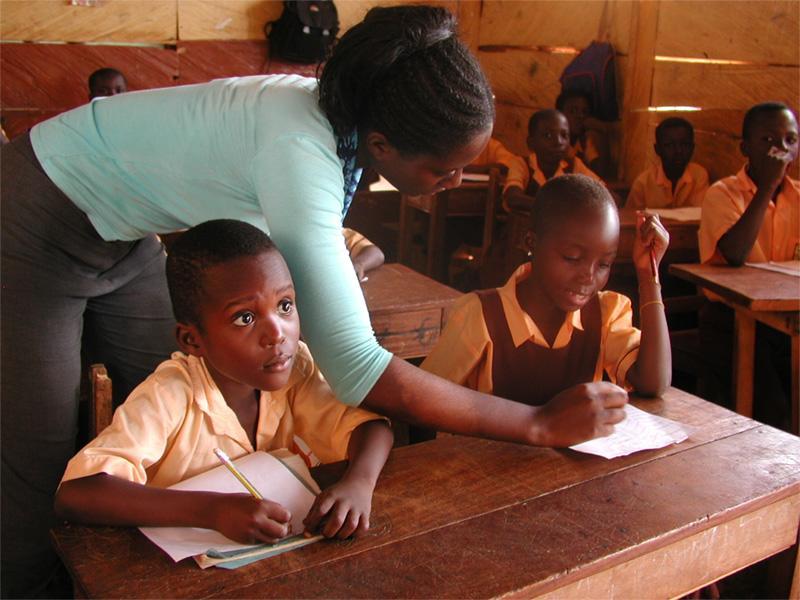 Volontaire sur une mission d'enseignement au Ghana