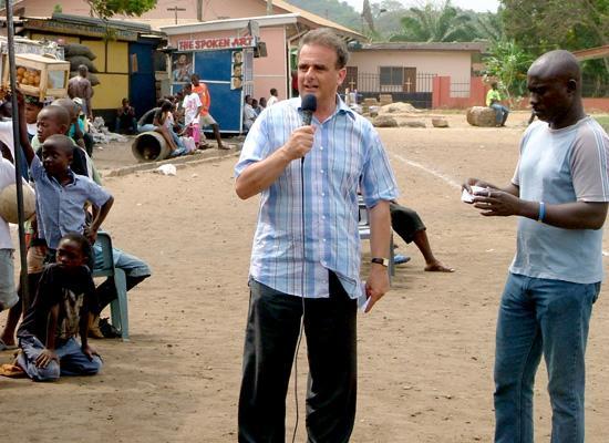 Peter making speech
