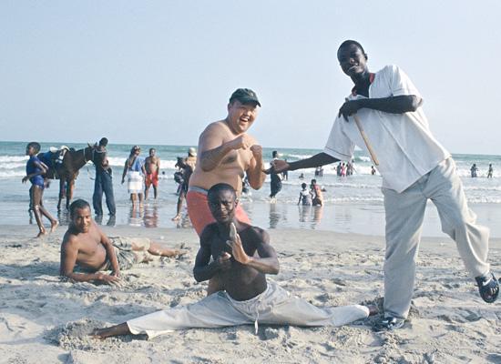 Training on the beach